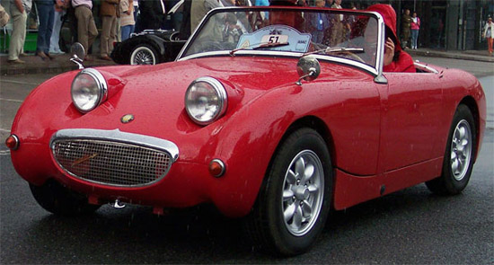 Austin Healey Sprite Mk I red vl1