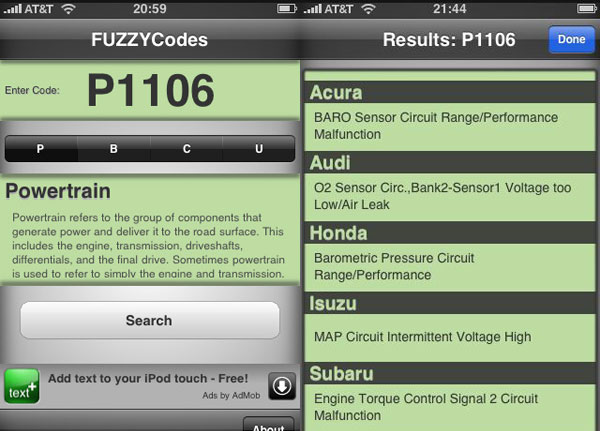 Fuzzy Codes