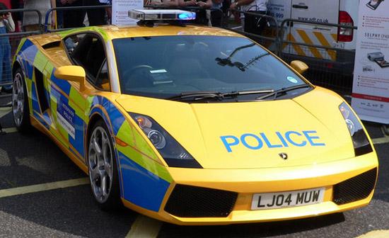 Police Lambourgini UK