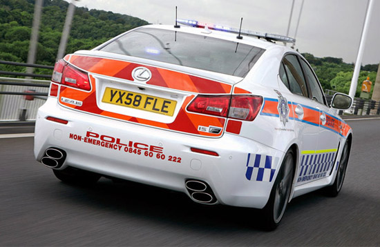 lexus is f police car