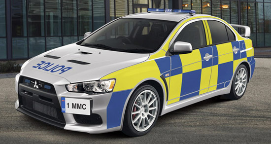 mitsubishi lancer evo x police