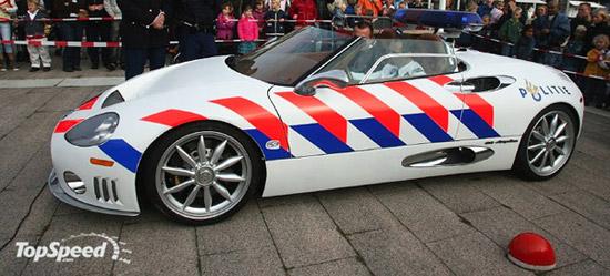 spyker c8 spyder police car